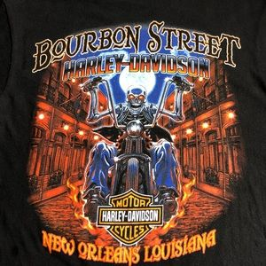 Harley Davidson Motorcycle Dual Side Print shirt!